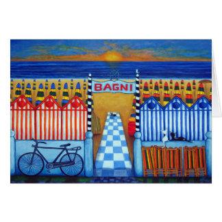 An Italian Summer's End Beach Greeting Card