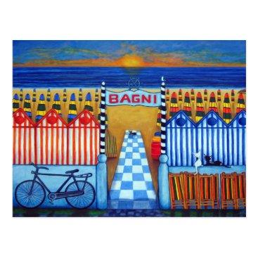 Beach Themed An Italian Summer's End Post Card by Lisa Lorenz