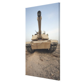 An M-1A1 Main Battle Tank Canvas Print