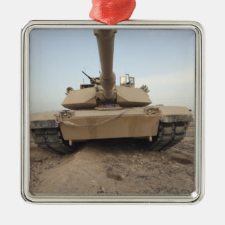 An M-1A1 Main Battle Tank Metal Ornament