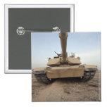 An M-1A1 Main Battle Tank Pinback Button