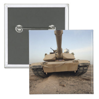 An M-1A1 Main Battle Tank Pinback Button