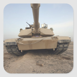 An M-1A1 Main Battle Tank Square Sticker