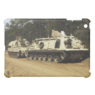 An M-88 recovery vehicle begins to tow an M992 Cover For The iPad Mini