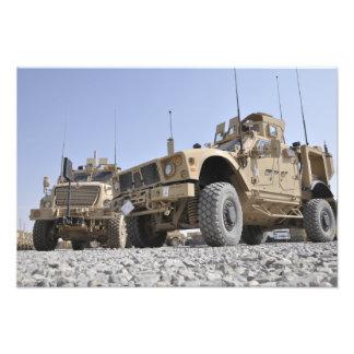 An M-ATV Mine Resistant Ambush Protected vehicl Photo Print