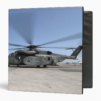 An MH-53E Sea Dragon helicopter 3 Ring Binder