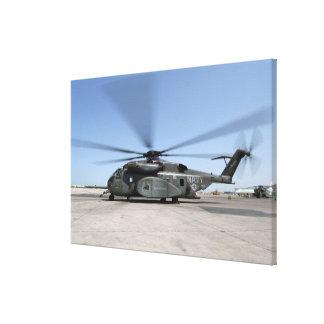 An MH-53E Sea Dragon helicopter Canvas Print