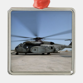 An MH-53E Sea Dragon helicopter Metal Ornament