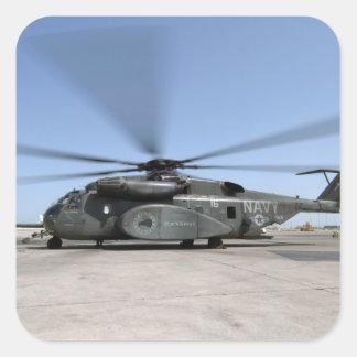 An MH-53E Sea Dragon helicopter Square Sticker