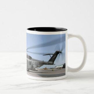 An MH-53E Sea Dragon helicopter Two-Tone Coffee Mug