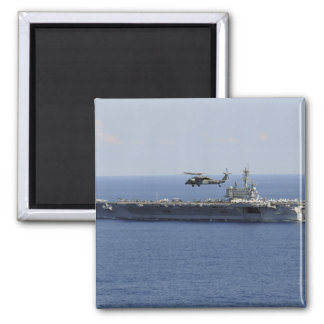 An MH-60S Seahawk helicopter 2 Inch Square Magnet