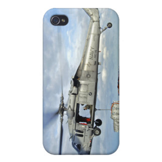 An MH-60S Seahawk prepares to deliver ammunitio iPhone 4/4S Cover
