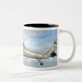 An MH-60S Seahawk prepares to deliver ammunitio Two-Tone Coffee Mug