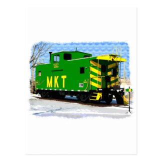 An MKT Caboose Postcard