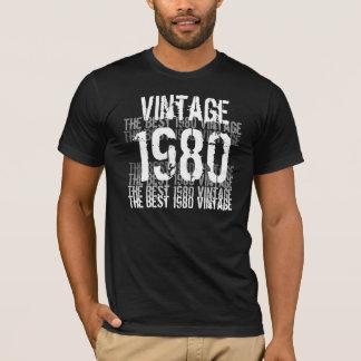an o 80 año del cumpleaños - el mejor vintage el playera