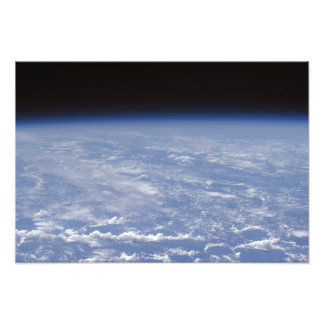 An oblique horizon view of the Earth's atmosphe Art Photo