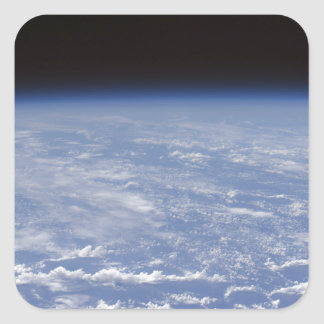 An oblique horizon view of the Earth's atmosphe Sticker