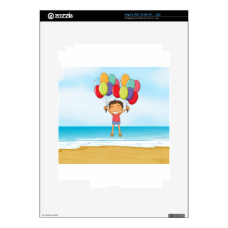 an ocean and a boy skins for iPad 2