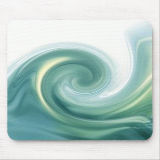 An ocean of green waves mousepads