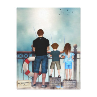 An Ocean of Tenderness Wrapped Canvas Print