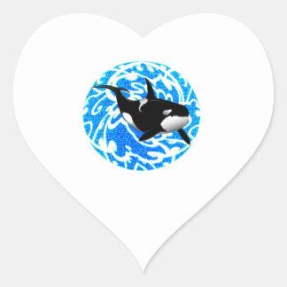 AN OCEAN TRAVELER HEART STICKER