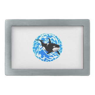 AN OCEAN TRAVELER RECTANGULAR BELT BUCKLE