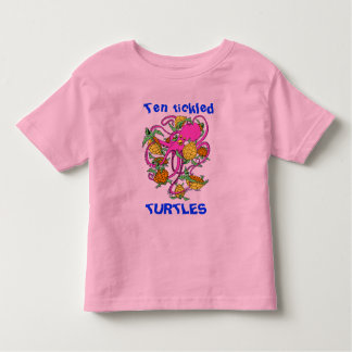 """An octopus with """"Ten tickled Turtles"""" Shirts"""