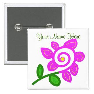 An Odd Flower Button