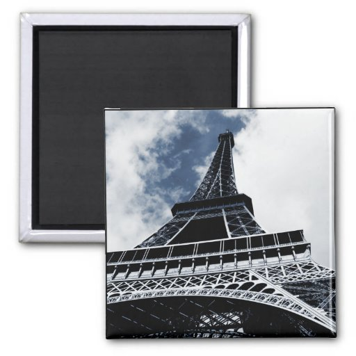 An Ode to the Eiffel Tower 2 Inch Square Magnet
