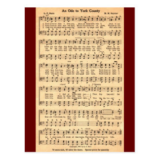 An Ode to York County in music & verse Postcard