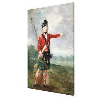 An Officer of the Light Company of the 73rd Highla Canvas Print