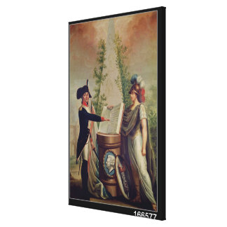 An Officer of the National Guard Swearing an Oath Stretched Canvas Prints