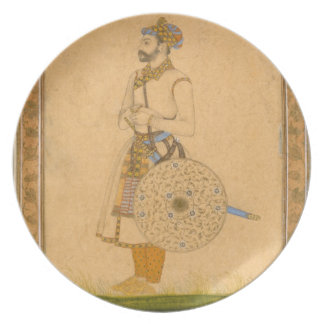An Officer, standing, with sword and shield, from Plate