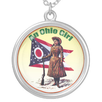 An Ohio Girl Silver Plated Necklace