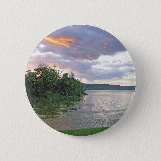 An Ohio River Valley Sunrise Pinback Button