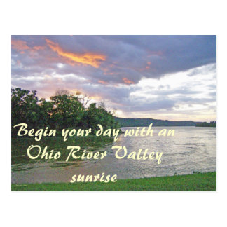 An Ohio River Valley Sunrise Postcard