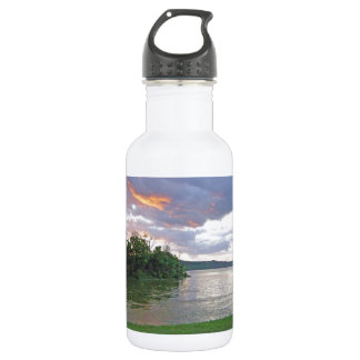 An Ohio River Valley Sunrise Stainless Steel Water Bottle