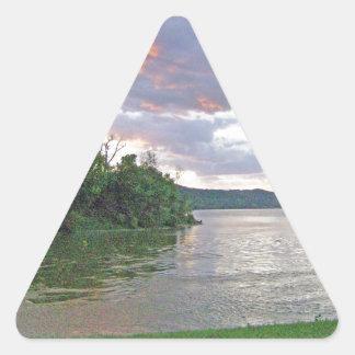 An Ohio River Valley Sunrise Triangle Sticker