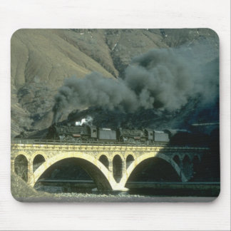 An Oil train for Maden is hauled out of tunnel nea Mouse Pad