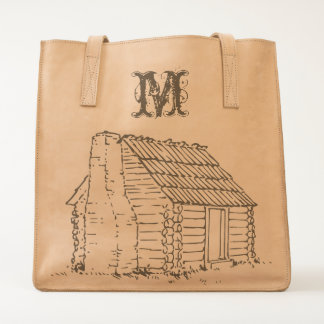 An Old Cabin & A Monogram Tote