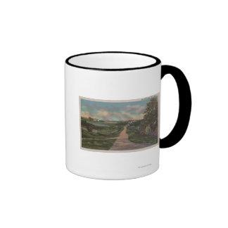 An Old Cape Cod Lane View Ringer Mug