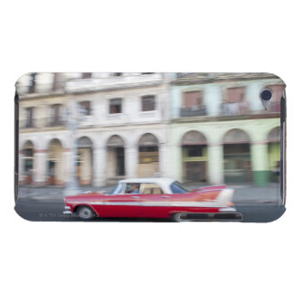 An old car cruising the streets of Havana, Cuba. iPod Case-Mate Case