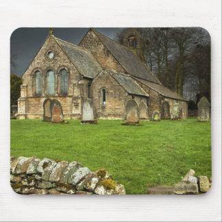 An Old Church Under A Dark Sky Mouse Pad