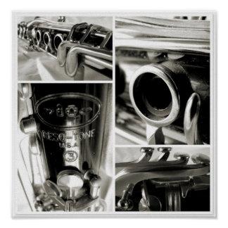 An Old Clarinet's Parts Photographic Print