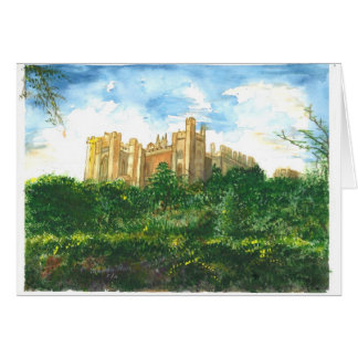 An old Engish Castle from a distance Card