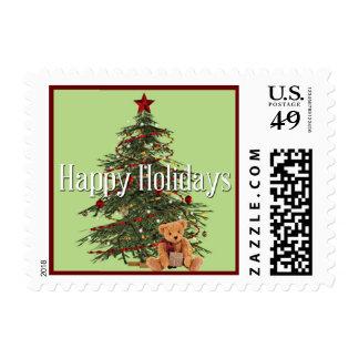 An Old-Fashion Christmas Postage Stamp