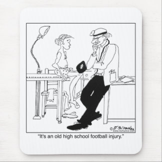 An Old Football Injury Mouse Pad