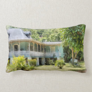 An old heritage style building throw pillow