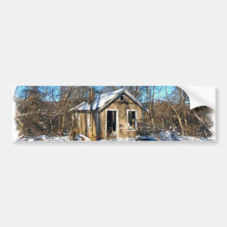 An Old House in the Snow Bumper Sticker