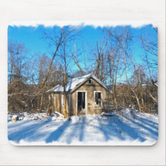 An Old House in the Snow Mouse Pad